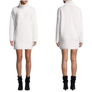 Chenille Turtleneck Short Sweater Dress